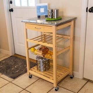 Vernon Natural Wood Kitchen Cart