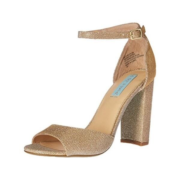 Blue by Betsey Johnson Womens Carly Dress Heels Open Toe
