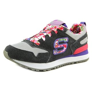 Skechers Retrospect-Floral Fancies Youth Round Toe Synthetic Gray Sneakers