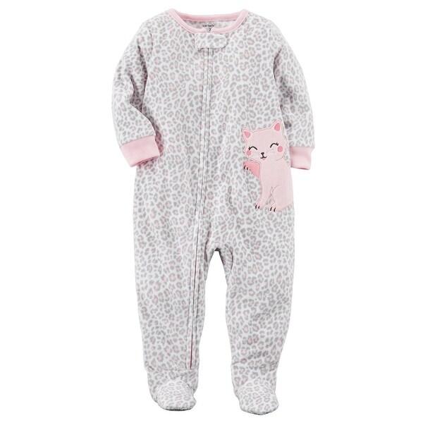 ac7916abd Shop Carter s Baby Girls  1-Piece Kitty Fleece PJs
