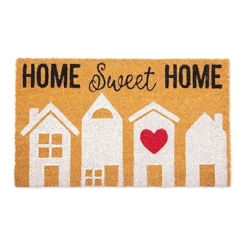 "Mustard Yellow and Black ""HOME Sweet HOME"" Doormat 18"" x 30"""