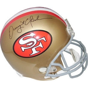 0daa9f6cd48 Shop Dwight Clark signed San Francisco 49ers Full Size Replica TB Helmet - Free  Shipping Today - Overstock - 19872867