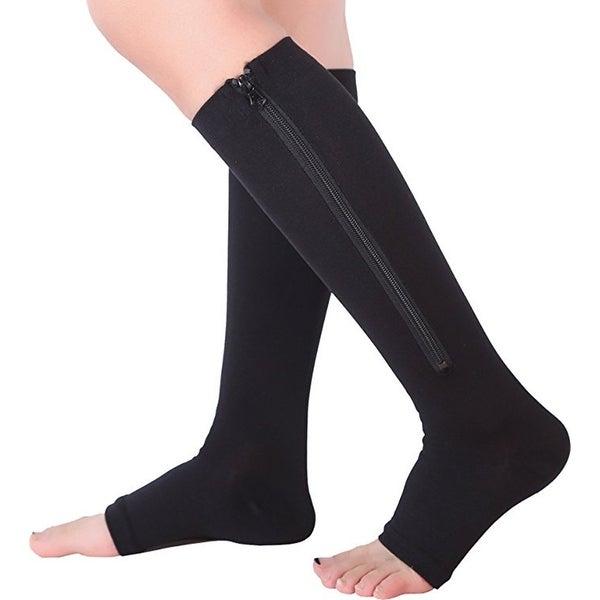 3d3db3730 Zip Sox Socks Medical Compression Stockings w  Open Toe for Men  amp  Women  15
