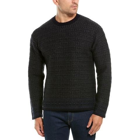 Vince Reverse Fairisle Wool-Blend Sweater