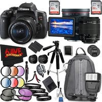 Canon EOS Rebel T6i DSLR Camera with 18-55mm Lens (Intl Model) and Canon EF 24mm f/1.4L II USM Lens