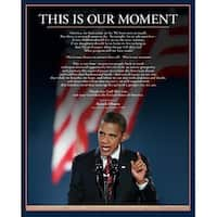 ''Barack Obama: This is Our Moment'' by Anon African American Art Print (20 x 16 in.)