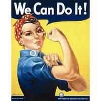 Rosie The Riveter Poster Print by J. Howard Miller, 22 x 28 -