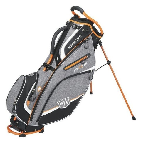 "Wilson Nexus III Golf Carry Leg Stand Bag 9.5"" Top Golfing WGB5700OR (Orange) - Orange - One size"