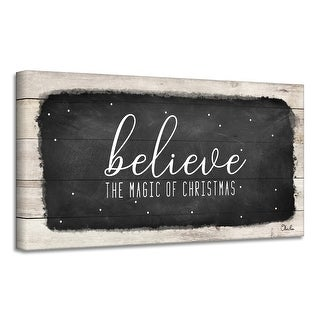 Link to Ready2HangArt 'Believe I' Holiday Canvas Wall Art by Olivia Rose Similar Items in Christmas Decorations