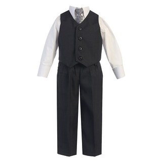 Baby Boys Dark Gray Vest Pants Special Occasion Easter Outfit Set 6-24M