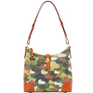 Dooney & Bourke Camouflage Duck Hobo (Introduced by Dooney & Bourke at $278 in Dec 2014) - Green