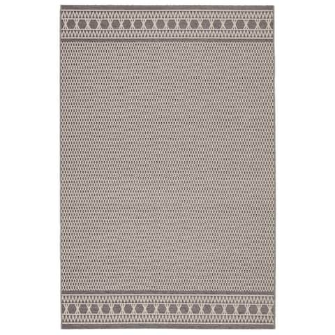 Alix Indoor/ Outdoor Trellis Gray/ Cream Area Rug