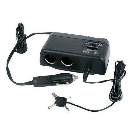 Plug In Car 1 TO 2 Cigarette Lighter Multiplier & Adjustable AC Voltage Transformer