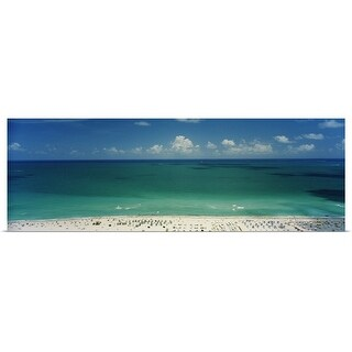 """Beach, South Beach, Miami Beach, Florida"" Poster Print"