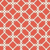 York Wallcoverings GE3630 Ashford Geometrics Threaded Links Wallpaper - red/orange and white - N/A