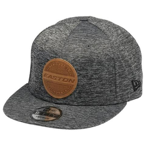Easton Legacy 9Fifty SHDW Leather Patch Logo Hat Baseball Cap Snapback Gray