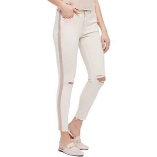 Free People Womens Jeans Denim Embellished - 25
