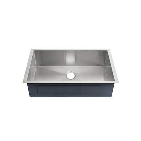 Tourner 26 x 18 Stainless Steel, Single Basin, Undermount Kitchen Sink