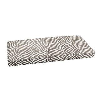 Sunbrella Grey Zebra Indoor/Outdoor Bench Cushion, Corded
