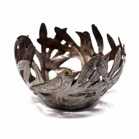 The Curated Nomad Handmade Metal Birds Decorative Bowl