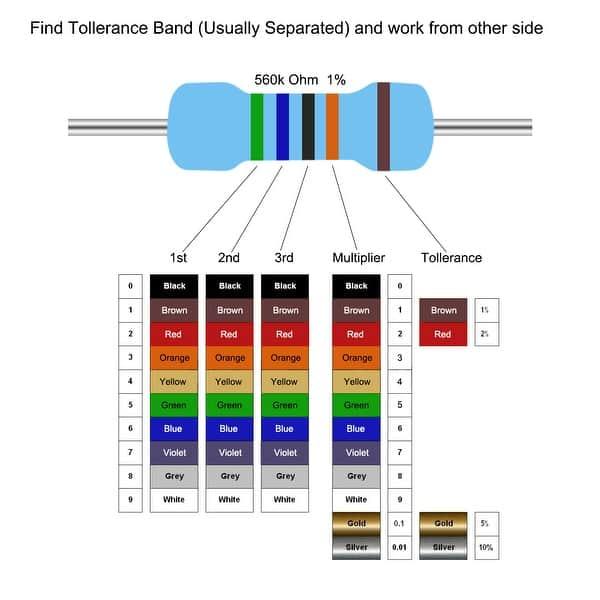 100 résistance 475 Kohm mf0207 metallfilm resistors 475k 0,6w tk50 1/% 033165
