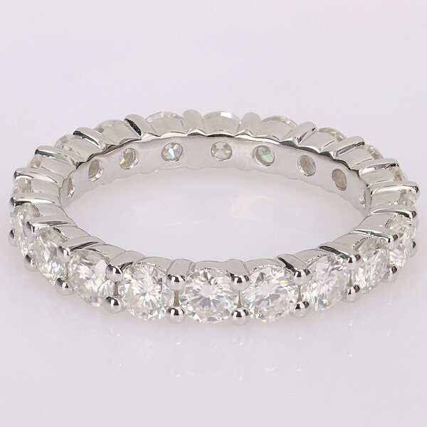 Miadora 2 3/4ct TGW Created Moissanite Full Eternity Band in Sterling Silver. Opens flyout.