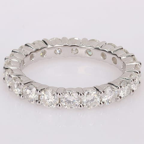 Miadora 2 3/4ct TGW Created Moissanite Full Eternity Band in Sterling Silver