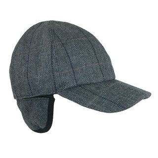 Broner Men's Herringbone Plaid Baseball Cap with Earflaps (2 options available)