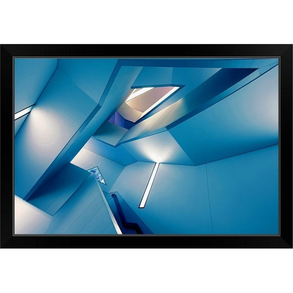 """The Symphony Of The Lines"" Black Framed Print"