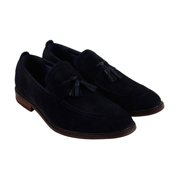 Steve Madden Bogart Mens Blue Suede Casual Dress Slip On Loafers Shoes