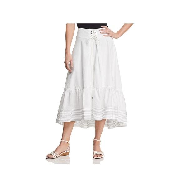 12d0bec8fc0cd Shop T Tahari Womens Irena Midi Skirt Corset Ruffle - Free Shipping ...