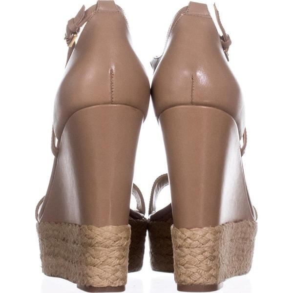 Michael Kors Womens Kerri Leather Open Toe Casual Platform Sandals - 5