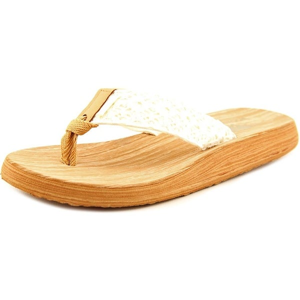Rocket Dog Nacho Youth Open Toe Canvas Ivory Flip Flop Sandal