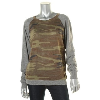 Alternative Apparel Womens Camouflage Long Sleeve Pullover Top