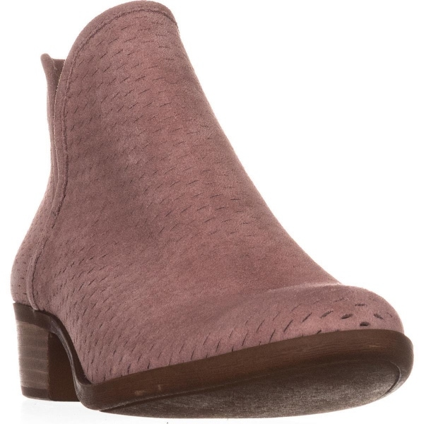 f45e801eb Shop Lucky Brand Baley Pull On Ankle Boots, Blush - Free Shipping ...