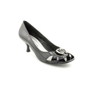 Chinese Laundry Duff Women Peep-Toe Patent Leather Black Heels