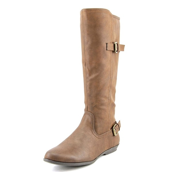 White Mountain Finalist Women  Round Toe Synthetic Brown Knee High Boot