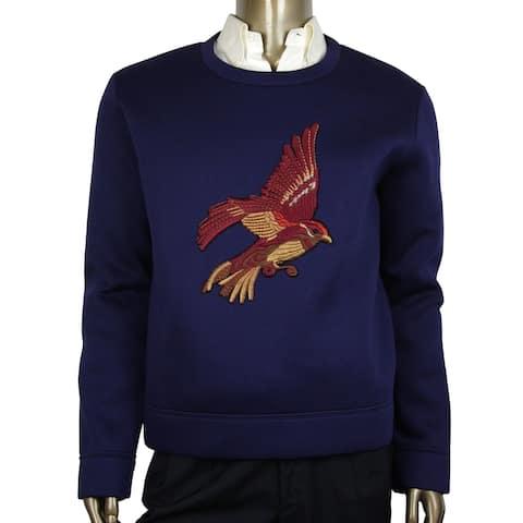 Gucci Men's Double Viscose Navy Blue Rayon Jersey Sweatshirt 408240 4185 (2XL) - 2XL