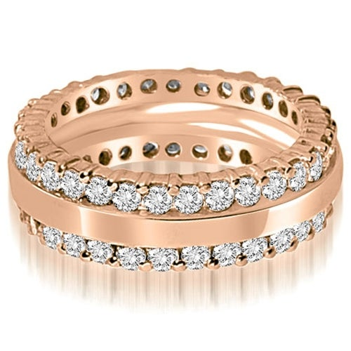1.75 cttw. 14K Rose Gold Round Prong Diamond Eternity Ring