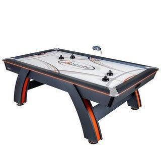 Atomic 7.5' Contour Air Powered Hockey Table with Mobile App Technology G04800W - Black - N/A