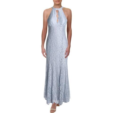 NW Nightway Womens Evening Dress Glitter Lace