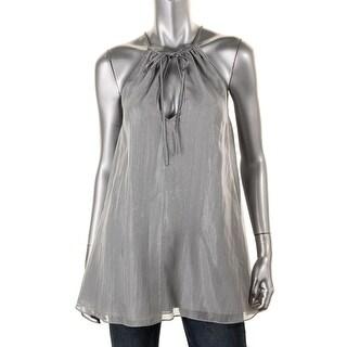 Catherine Malandrino Womens Silk Metallic Blouse - S