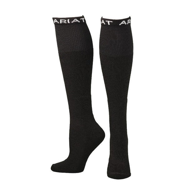 Ariat Socks Mens Over the Calf Cushion Reinforced Black