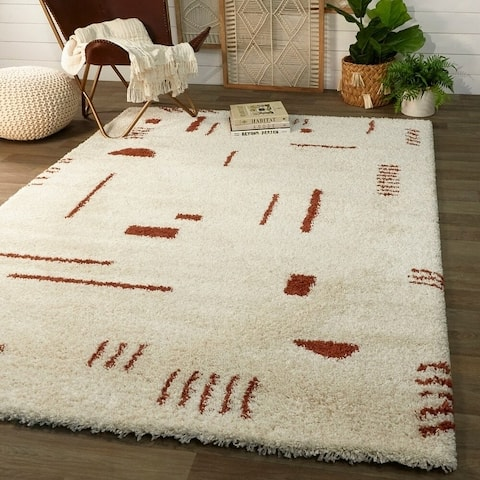 Carson Carrington Islinge Tribal Moroccan Shag Area Rug