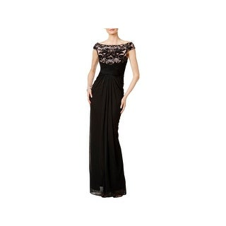 Adrianna Papell Womens Evening Dress Chiffon Sequined