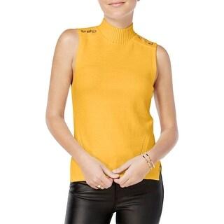 XOXO Womens Juniors Tank Top Sweater Knit Grommet