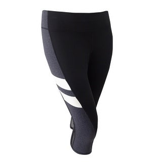 Ideology Women's Plus Size Colorblocked Capri Leggings - Noir