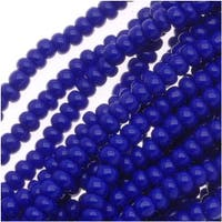 Czech Seed Beads Size 11/0 Royal Blue Opaque (1 Hank)