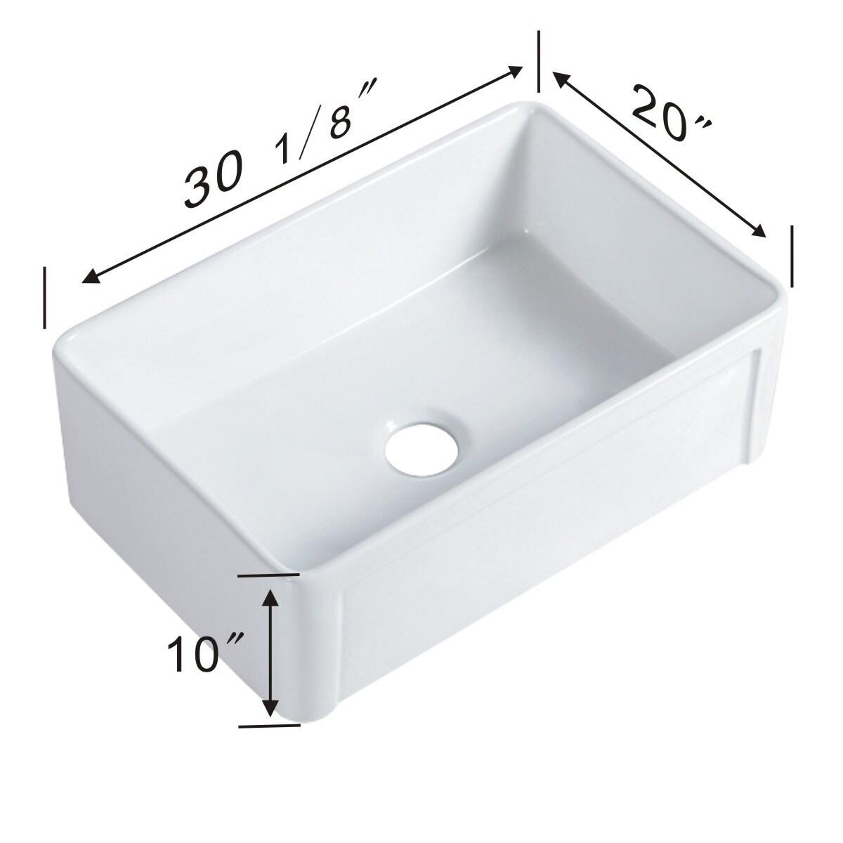 30 Inch White Farmhouse Kitchen Sink