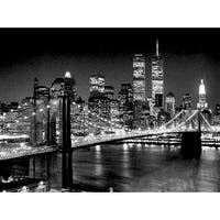 ''Brooklyn Bridge'' by Henri Silberman New York Art Print (35.5 x 47.25 in.)